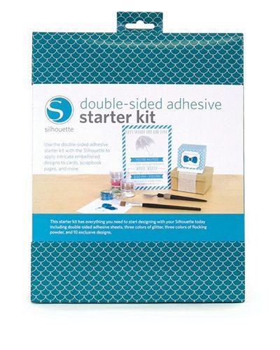 Silhouette starterset tweezijdig zelfklevende vellen double-sided adhesive starter kit KIT-ADHESIVE 814792012567