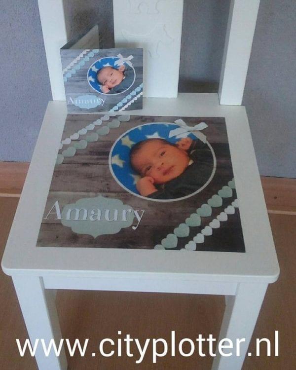 stoeltje met printbaar vinyl voorbeeld cityplotter zaandam