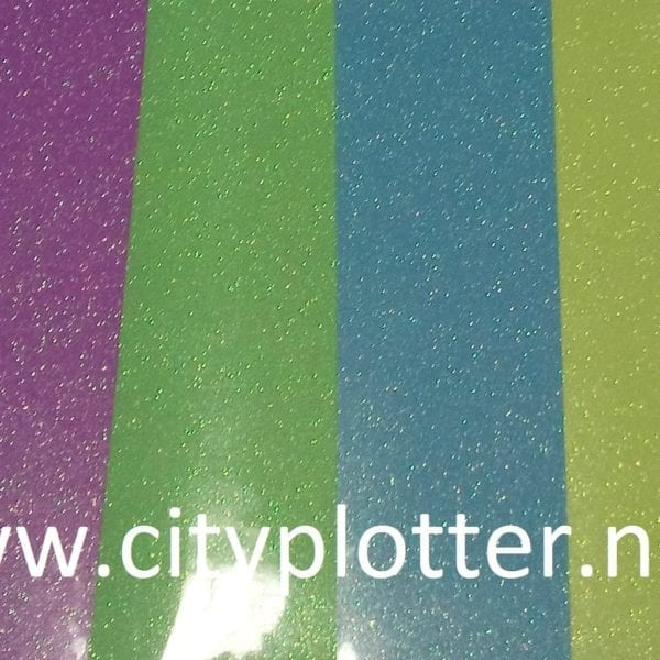 Flexfolie Fluo Neon Pearl Glitter 6 kleuren Politape Cityplotter Zaandam