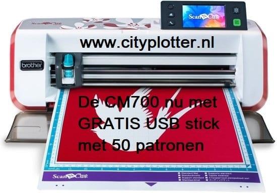 BROTHER SCANNCUT CM700 & GRATIS USB STICK 50 patronen ter waarde van € 70,00 GRATIS SOFTWARE Cityplotter Zaandam