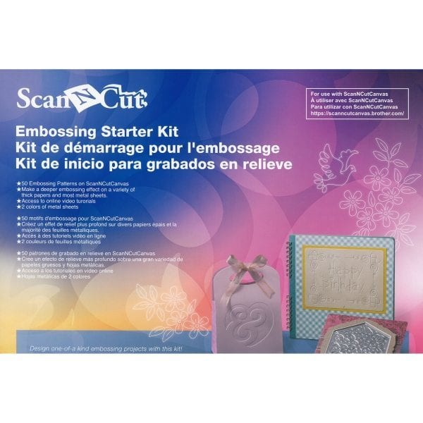 BROTHERSCANNCUT Embossing Starters kit CAEBSKIT1 4977766765527 Cityplotter Zaandam