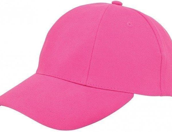Pet Roze Cap om te bedrukken turned brushed caps pink met bronse clip sluiting en versteviging Cityplotter Zaandam