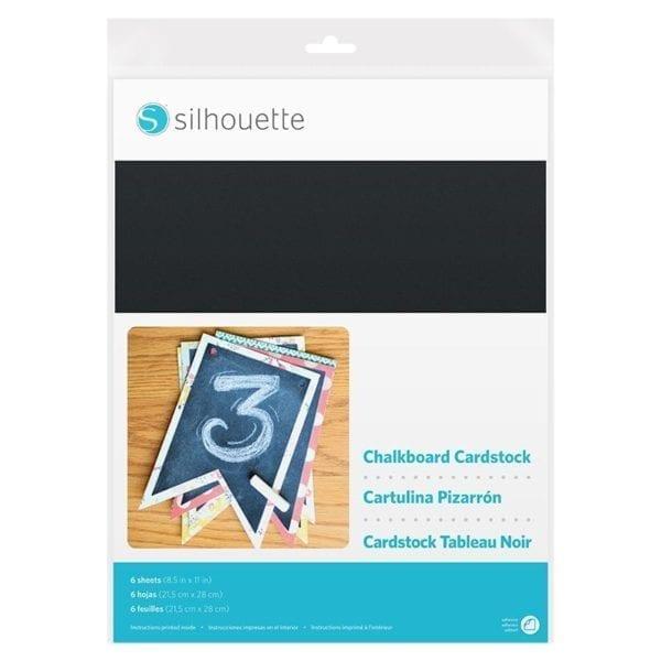Silhouette Chalkboard Cardstock Krijtbord vellen CARDSTOCK-CHALK 8 14792 02203 Cityplotter Zaandam
