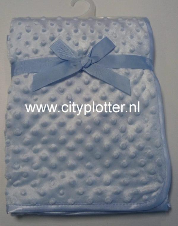 deken-blauw-noppen-cityplotter-zaandam