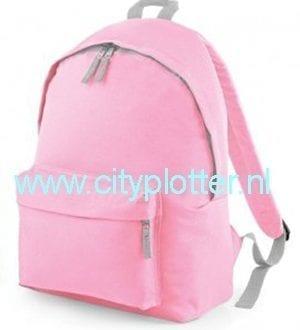 Rugzak Kinderrugzak kinder bag bagback onbedrukt tasjes zwart roze blauw vele kleuren met voorvak Cityplotter Zaandam