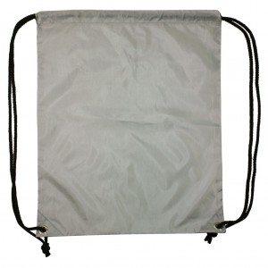 Rugzak Gymtas Sporttasje rug zak gym tas onbedrukt tasjes grijs backpack grey Cityplotter Zaandam