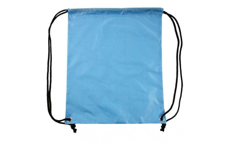 Rugzak Gymtas Sporttasje rug zak gym tas onbedrukt tasjes licht blauw backpack light blue Cityplotter Zaandam