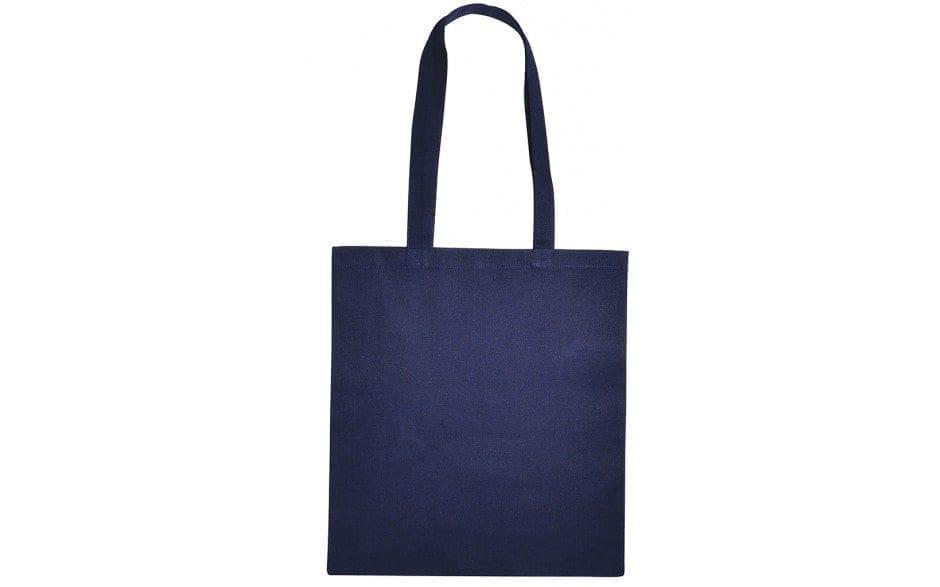 Tas tasjes katoenen donker marine blauw bag shopper navy dark blue Cityplotter Zaandam