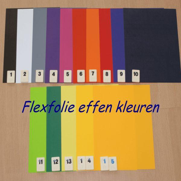 Flex Folie 15 Effenkleuren VOORDEEL PAKKET PK0XSTFLEXE15 voor maar €19,99 Cityplotter Zaandam