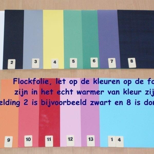 Flock Folie 14 VOORDEEL PAKKET PK0XPOFLOCK14 voor maar €19,99 Cityplotter Zaandam