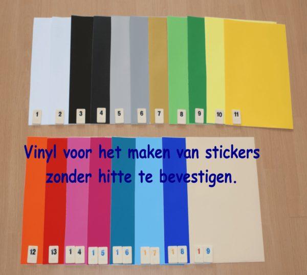 Vinyl Folie 19 VOORDEEL PAKKET PK0XRIVINYL19 voor maar €11,99 Cityplotter Zaandam