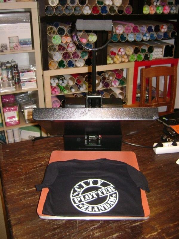 Hittepers transferpers 38 x 38 heatpress warmtepers drukpers zwart black Cityplotter Zaandam
