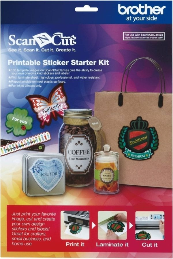 BROTHERSCANNCUT Printbare Stickerkit PRINTABLE STICKER STARTER KIT CAPSKIT1 4977766743402 Cityplotter Zaandam