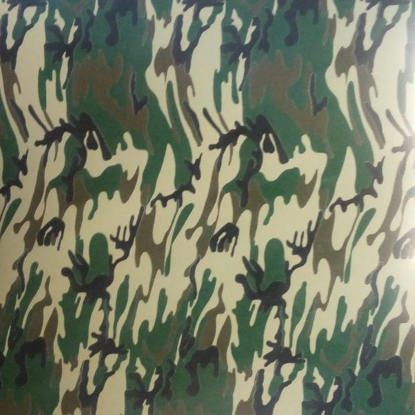 camouflage flexfolie groen bruin beige dunne strepen