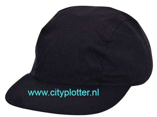 Pet zwart cap black om te bedrukken microvezel caps Cityplotter Zaandam