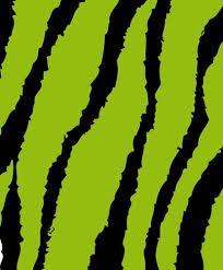 Flexfolie speciaal groen zebra strepen print heattransfer smooth green zebra stripes print
