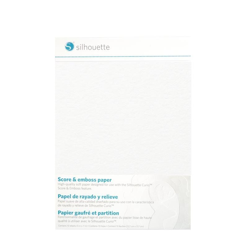 Silhouette Curio Score & emboss paper klein embossen papier A7 EMBOSS-PPR-A7 814792019115 Cityplotter Zaandam