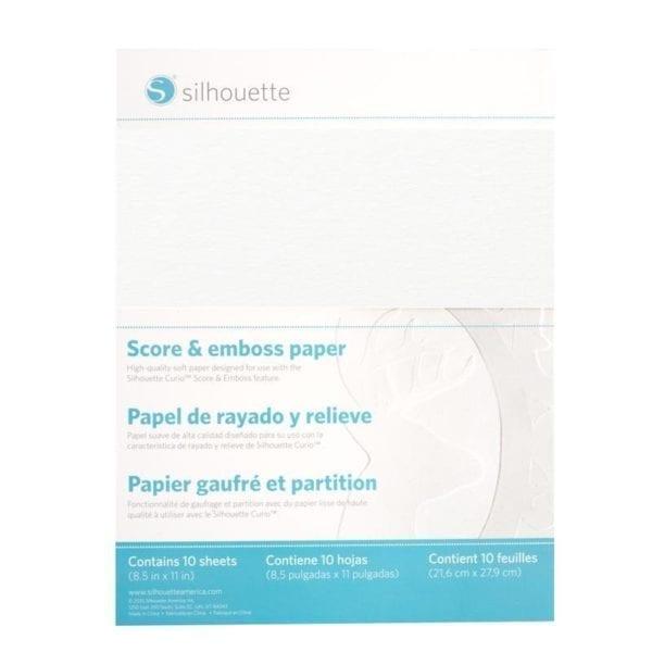 Silhouette Curio Score & emboss paper groot embossen papier EMBOSS-PPR-LTR 814792019122 Cityplotter Zaandam