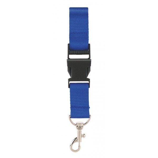 Keycord koninklijk blauw keykoord key cord keycords lanyard lanyards royal blue OK5033 Cityplotter Zaandam