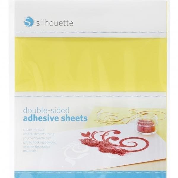Silhouette tweezijdig zelfklevende vellen sjabloon papier double-sided adhesive sheets MEDIA-ADHESIVE 814792012222 Cityplotter Zaandam