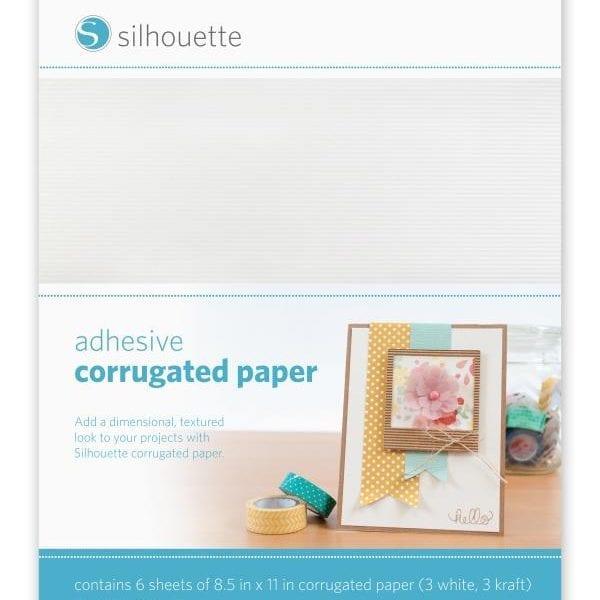 Silhouette zelfklevend ribbel karton papier adhesive corrugated paper MEDIA-COR-ADH 814792013465 Cityplotter Zaandam