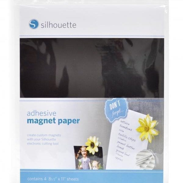 Silhouette zelfklevend magneetpapier vellen adhesive magnet paper MEDIA-MAGNET-ADH-3T 814792012185 Cityplotter Zaandam