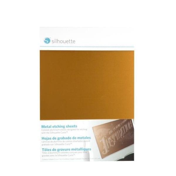 Silhouette Curio Metal etching sheets metaal graveer plaatjes METAL-ETCH 814792019139 Cityplotter Zaandam