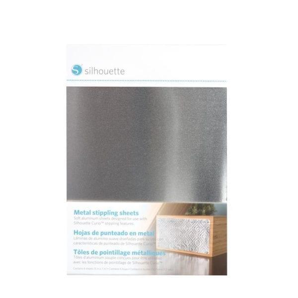 Silhouette Curio Aluminium stippel plaatjes Metal stippling sheets METAL-STIP 814792019146 Cityplotter Zaandam