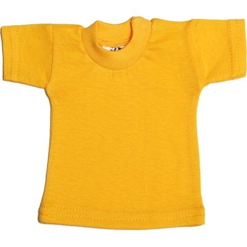 Mini tshirt shirtjes t-shirt geel yellow shirtje CityPlotter Zaandam