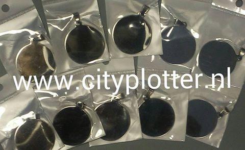 Tags armband bedel graveerstrip tag label om te graveren of met vinyl te beplakken Cityplotter Zaandam