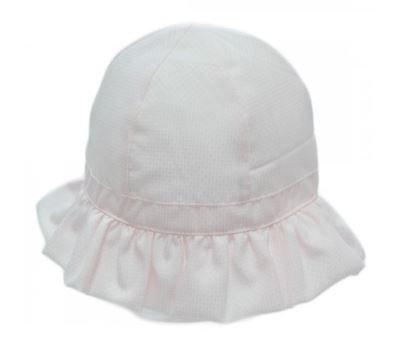 Baby zomerhoedje roze met klittenband bandje 3-6 mnd cityplotter zaandam