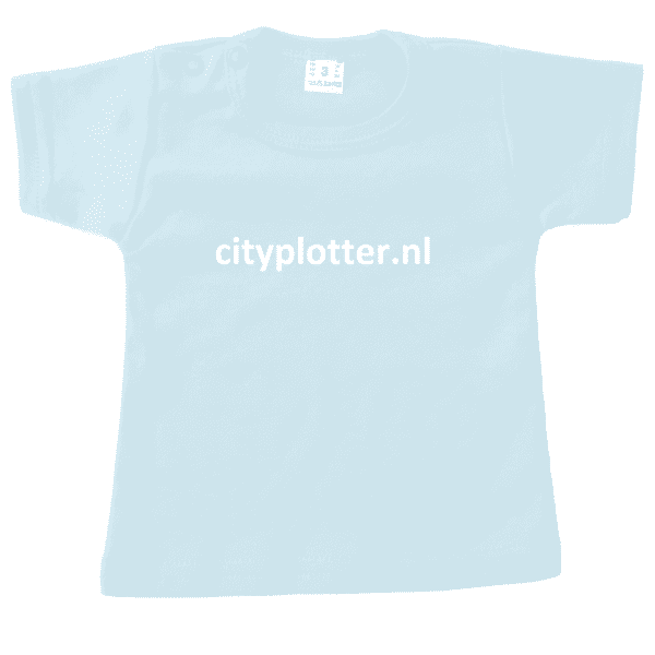 Tshirt_kort_Licht_Blauw cityplotter zaandam