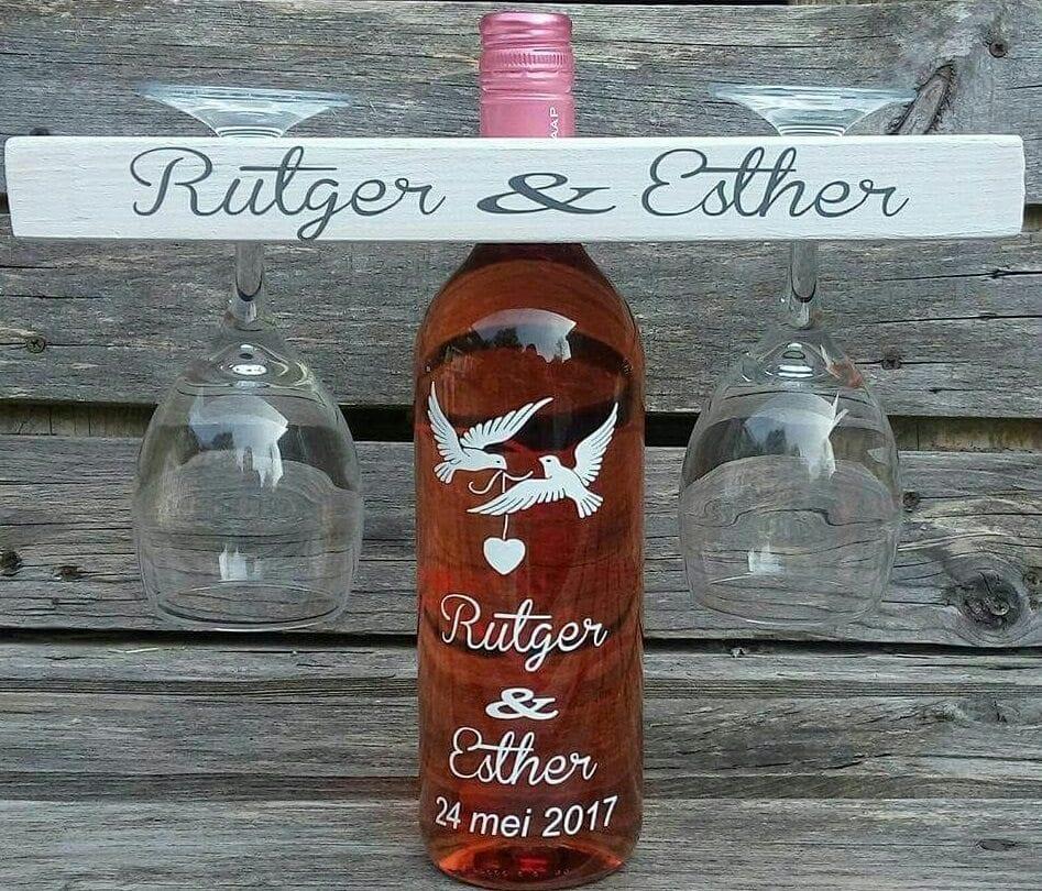 Cadeau wijnset voor trouwen verjaardag samenwonen for Geen cadeau voor verjaardag