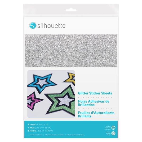 Silhouette glitter sticker Sheets vellen Cityplotter Zaandam MEDIA-GLT-ADH 819177020281