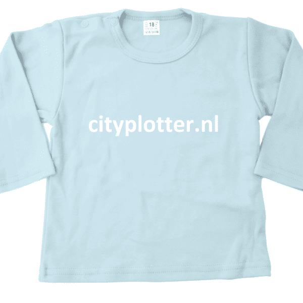 Tshirt_lang_Licht_Blauw cityplotter zaandam