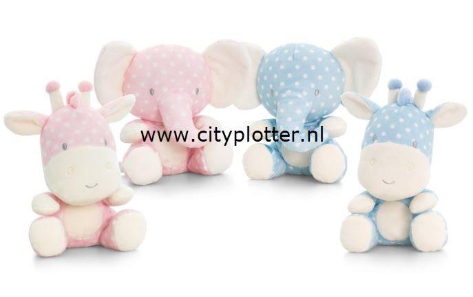 Knuffel Met Licht : Knuffel olifant of giraf roze of licht blauw cm u cityplotter