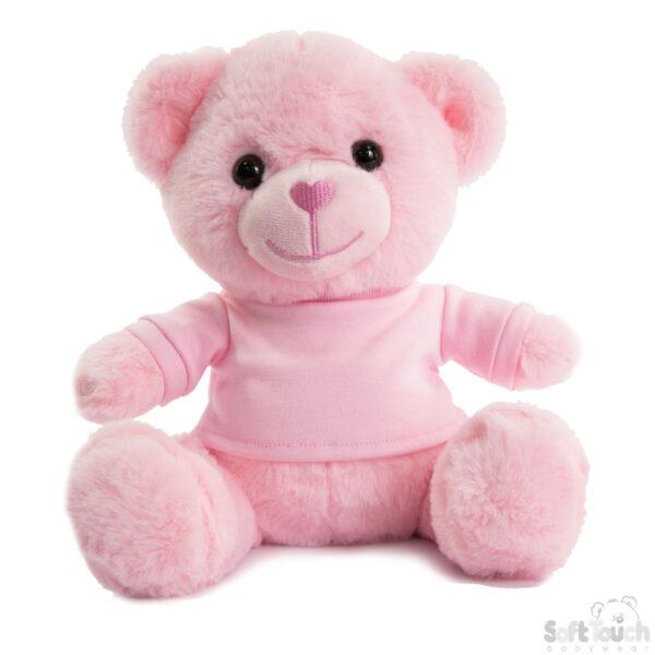 knuffelbeer roze 25 cm cityplotter