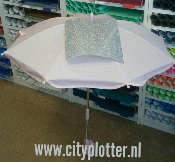 parasol met zilver glitter cityplotter zaandam