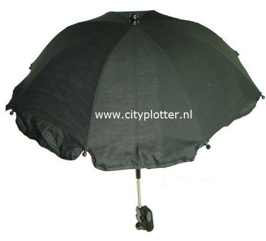 parasol zwart cityplotter zaandam