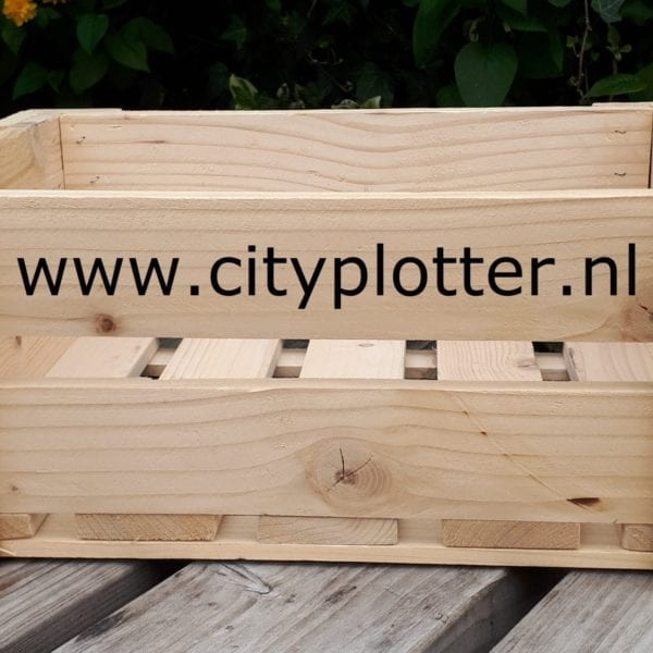 hout kist groot cityplotter zaandam
