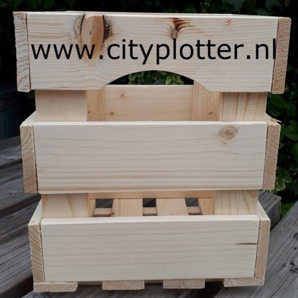 houten kist klein cityplotter zaandam