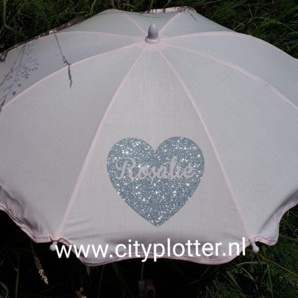 parasol met naam cityplotter zaandam