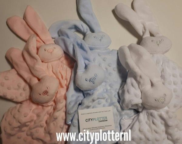 knuffel konijn set van 6 cityplotter zaandam