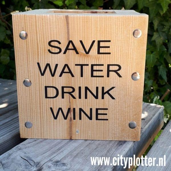 wijn houder hout cityplotter zaandam