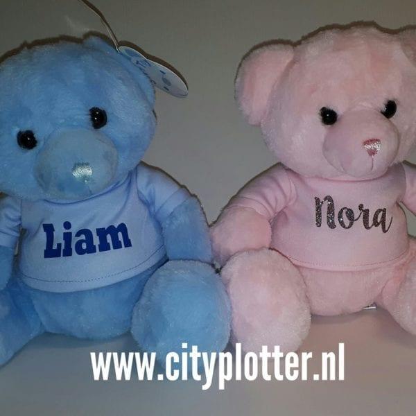 knuffelbeer met naam cityplotter zaandam