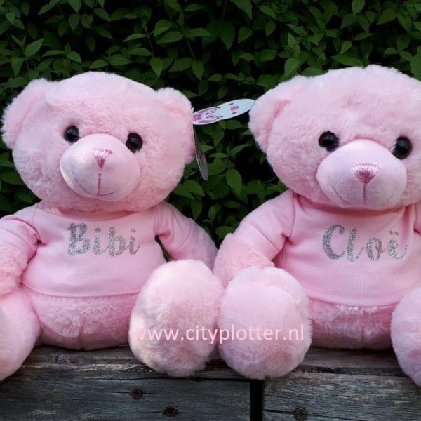 knuffelberen roze bibi en cloe cityplotter zaandam