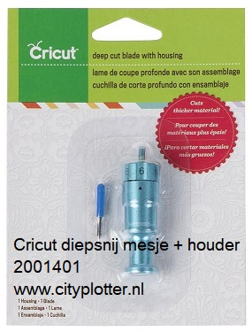 Cricut diep snijmesje met houder 2001401 cityplotter zaandam