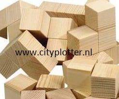 houten blokken 4,5 cm cityplotter zaandam