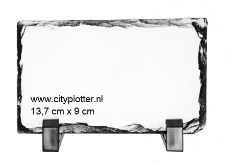 sublimatie leisteen foto + standaard 13,7 cm x 9 cm cityplotter zaandam