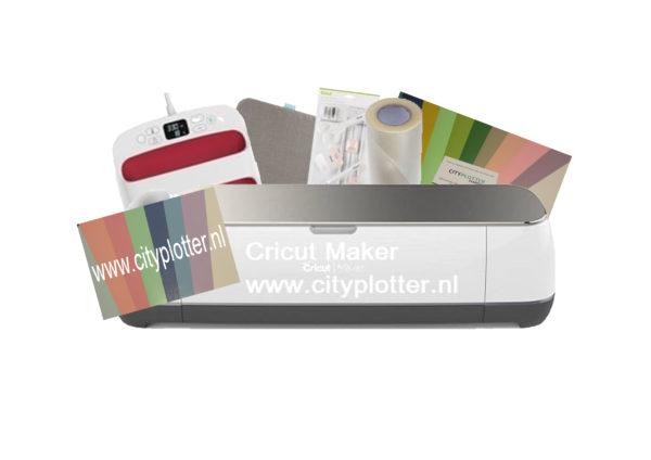 Cricut Maker & Cricut Easypress,ect TOTAAL VOORDEEL PAKKET Cityplotter Zaandam